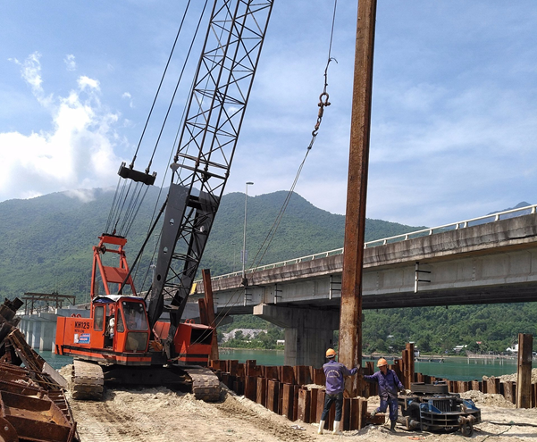 Vibration Measurement of Larsen - Hai Van road tunnel expansion project in Lang Co town, Phu Loc district, Thua Thien Hue province
